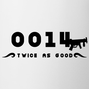 0014 twice as good Doppelagent T-Shirts - Tasse