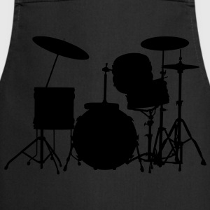 music drums drum set T-shirts - Keukenschort