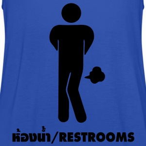 Funny Farting Restrooms / Toilet Sign T-Shirts - Women's Tank Top by Bella