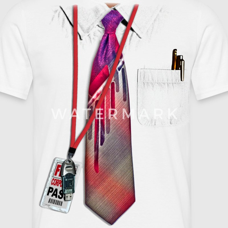 White Corporate Shirt - Herre-T-shirt