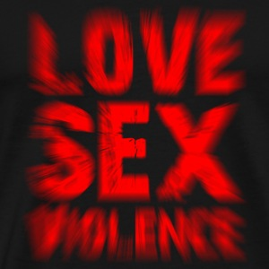 Love Sex Violence - Premium T-skjorte for menn