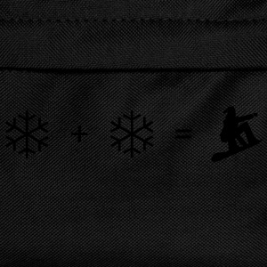 Black Snowboard + snowflake Hoodies & Sweatshirts - Kids' Backpack