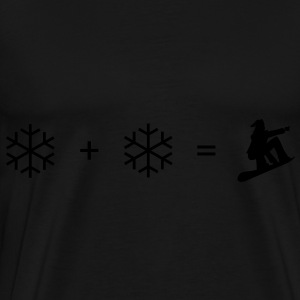 Black Snowboard + snowflake Hoodies & Sweatshirts - Men's Premium T-Shirt