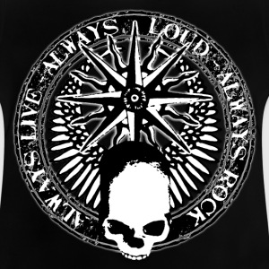 rock_and_roll_and_skull_and_pentagram_bw Skjorter - Baby-T-skjorte