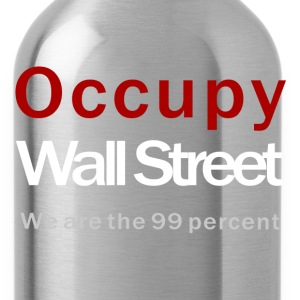 Occupy Wall Street black T-Shirts - Trinkflasche