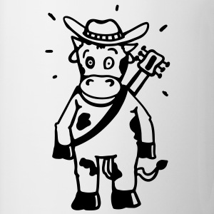 Cow cowboy with a guitar  Aprons - Mug