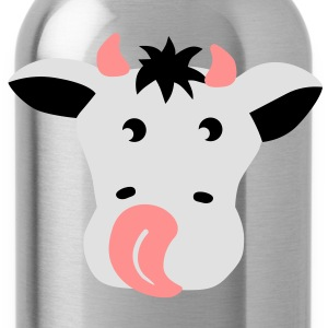 Kuh Gesicht Rind - cow face bull Pullover - Trinkflasche