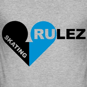 skating rulez 2-farbig Pullover - Männer Slim Fit T-Shirt