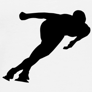 Ice skater - speed skating Mugs  - Men's Premium T-Shirt
