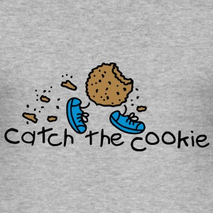 catch the cookie Pullover - Männer Slim Fit T-Shirt