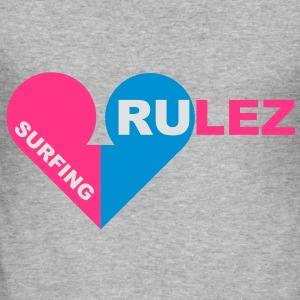 surfing rulez - Männer Slim Fit T-Shirt