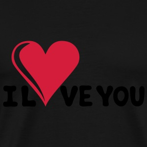 I LOVE YOU - Romantiek - Valentijnsdag - Hart - cadeau Sweaters - Mannen Premium T-shirt