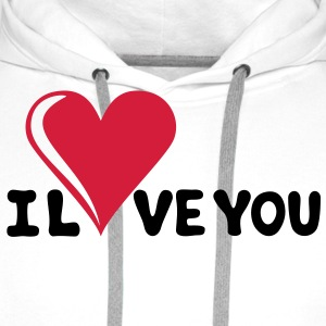 I LOVE YOU - Romance - Valentine's Day - Heart - Gift T-Shirts - Men's Premium Hoodie