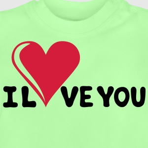 I LOVE YOU - Romantiek - Valentijnsdag - Hart - cadeau Kinder sweaters - Baby T-shirt