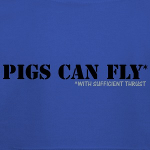 PIGS CAN FLY - with sufficient thrust T-Shirts - Kids' Premium Hoodie