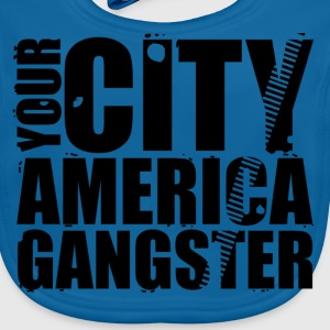 your city america gangster Shirts - Baby Organic Bib
