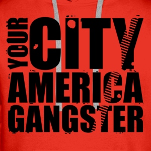 your city america gangster Shirts - Mannen Premium hoodie