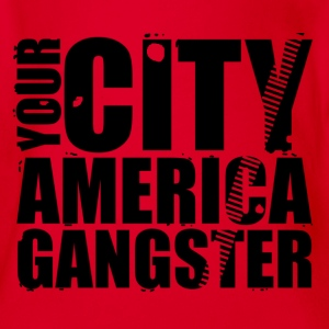 your city america gangster Camisetas - Body orgánico de maga corta para bebé