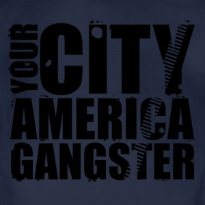 your city america gangster Pullover & Hoodies - Baby Bio-Kurzarm-Body