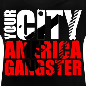 your city america gangster Camisetas - Camiseta bebé