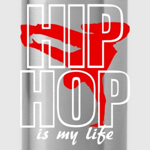 hip hop is my life Shirts - Water Bottle