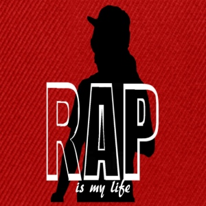 rap is my life Shirts - Snapback Cap