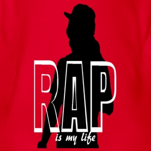 T shirt enfant rap is my life - Body bébé bio manches courtes