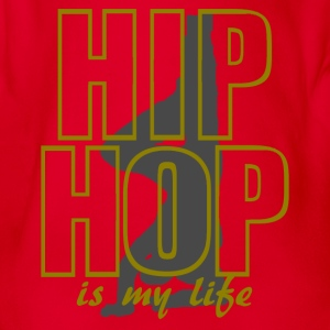 hip hop is my life Shirts - Organic Short-sleeved Baby Bodysuit