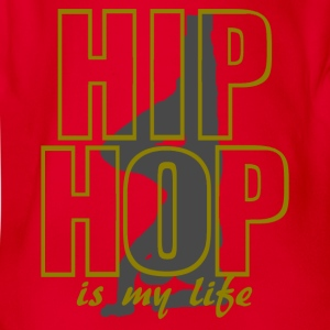 hip hop is my life Shirts - Baby bio-rompertje met korte mouwen
