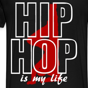 hip hop is my life Hoodies - Men's Premium T-Shirt