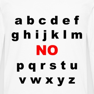 D.F.A. Designs - Alphabet NO - Men's Premium Longsleeve Shirt