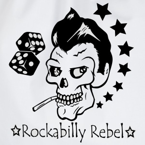 Hvit Rockabilly Rebel T-skjorter - Gymbag