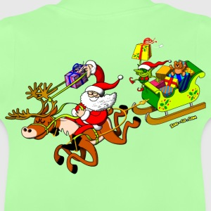 Santa's Gift Delivery with a Slingshot Kids' Tops - Baby T-Shirt