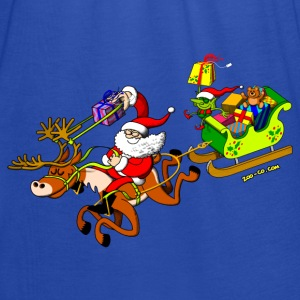 Santa's Gift Delivery with a Slingshot Hoodies & Sweatshirts - Women's Tank Top by Bella