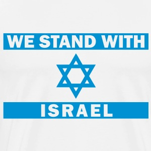 WE STAND WITH ISRAEL Pullover - Männer Premium T-Shirt