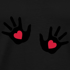 baby - hands - handprint - heart Bags  - Men's Premium T-Shirt