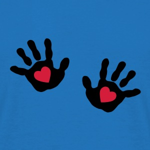 baby - hands - handprint - heart Bags  - Men's T-Shirt