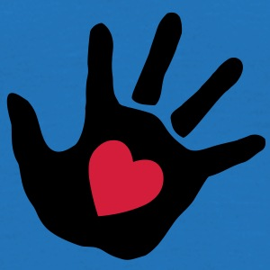 baby - hand - handprint - heart Bags  - Men's T-Shirt