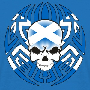 Tribal Scottish Skull - Men's T-Shirt