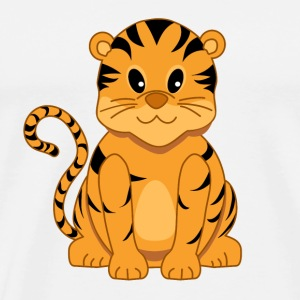 Cute Cartoon Tiger Cub Baseball Cap - Men's Premium T-Shirt
