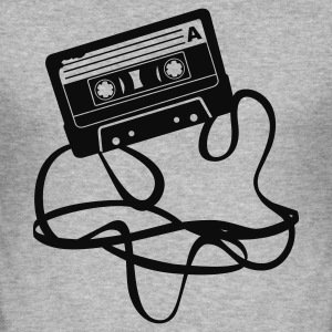Cassette bandje - slim fit T-shirt