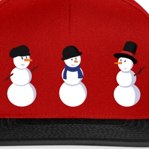 Red snowman Kids' Shirts - Snapback Cap