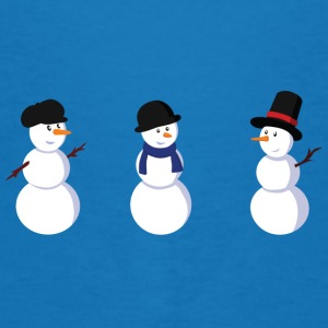 Peacock-blue snowman Bags  - Men's Organic T-shirt