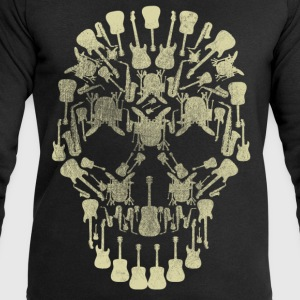 Musical Intruments Skull Men's T-Shirt - Men's Sweatshirt by Stanley & Stella