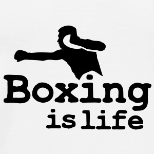 Boxing is life with boxer Krus - Herre premium T-shirt