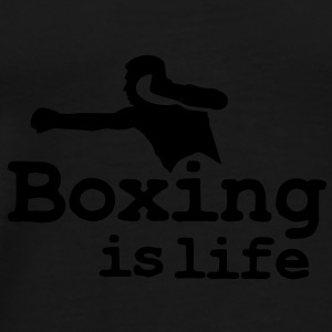 Boxing is life with boxer Gorras - Camiseta premium hombre