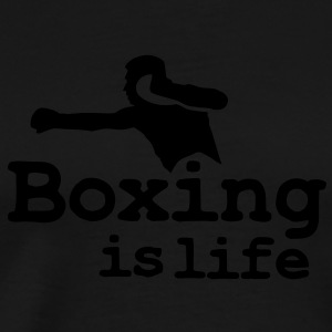 Boxing is life with boxer Baby body - Mannen Premium T-shirt