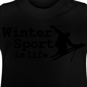 Wintersport is life with skier Camisetas niños - Camiseta bebé