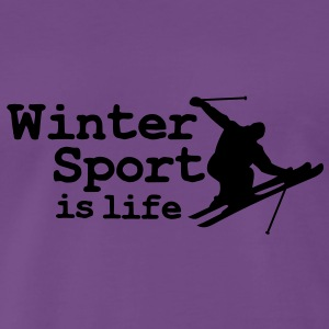 Wintersport is life with skier Pullover - Maglietta Premium da uomo