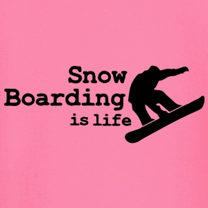 Snow boarding is life with snowboarding Camisetas - Camiseta manga larga bebé